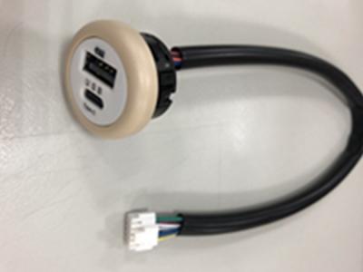 車用USB快速充電器附防塵套